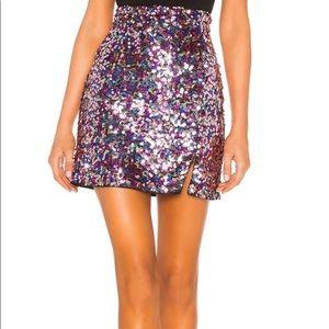 Majorelle Sparkle Sequin Skirt Small
